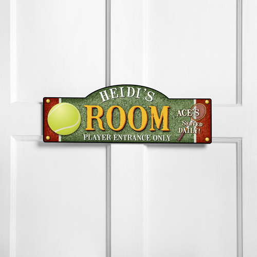 Personalized Kids Room Sign - Tennis, Anyone?