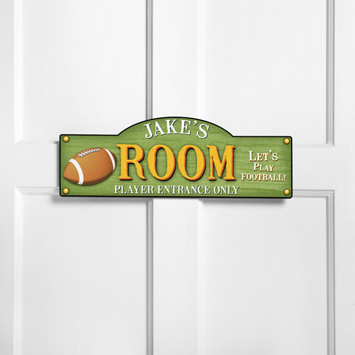 Personalized Kids Room Sign - Touchdown
