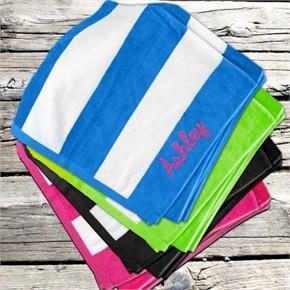 Personalized Stripe Beach Towel
