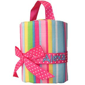 Doodlebugz Personalized Crayon Holder - Pink Striped