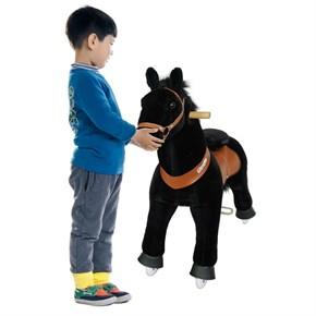 Ponycycle Horse Ride On Toy - Large - Black w/ Black Mane