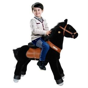 Ponycycle Horse Ride On Toy - Small - Black w/ Black Mane