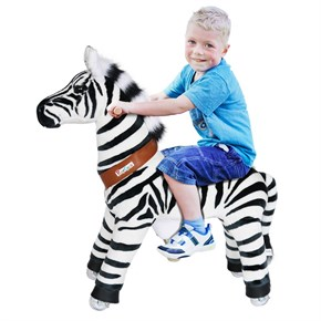 Ponycycle Zebra Ride On Toy - Large