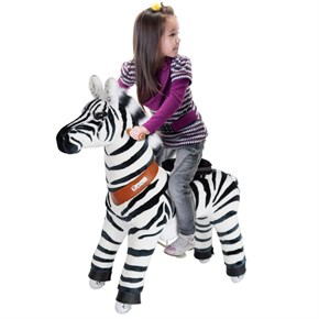 Ponycycle Zebra Ride On Toy - Small