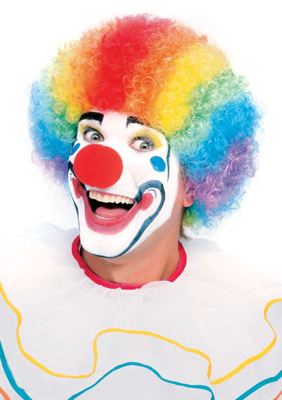 Professional Multi-Colored Clown Wig
