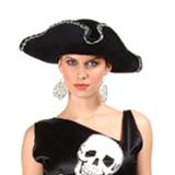 Tricorn Velvet Hat
