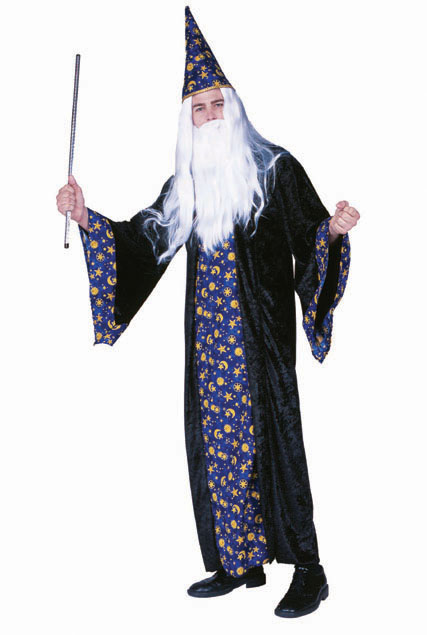 Adult Wizard Costume - Blue