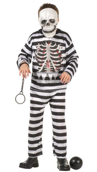 Child Skull Convict Costume