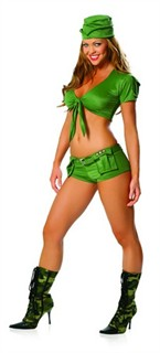 Sexy Military Costume - 4pc