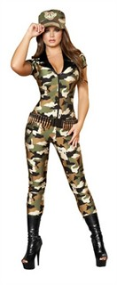 Sexy Soldier Costume - 2pc