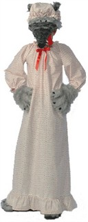 Adult Wolf in Granny's Nightie Costume