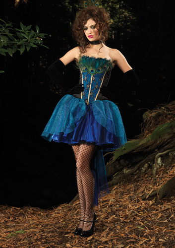 Sexy Deluxe Peacock Costume  sc 1 st  Fantasy Toyland & Leg Avenue Peacock Princess Costume Sexy Peacock Costumes