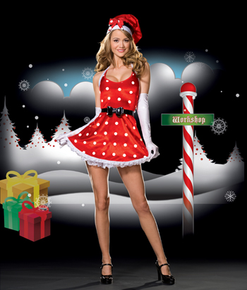 Sexy Holiday Pinup Costume