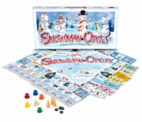 Snowmanopoly Board Game
