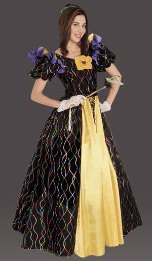 Adult Mardi Gras Confetti Gown, Mardi Gras Costume