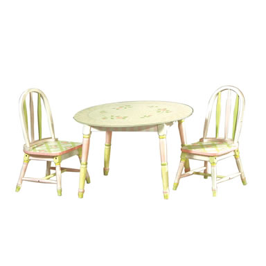 Teamson Child Table - Pink Crackle Finish