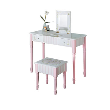 Teamson Child Bouquet Vanity Table