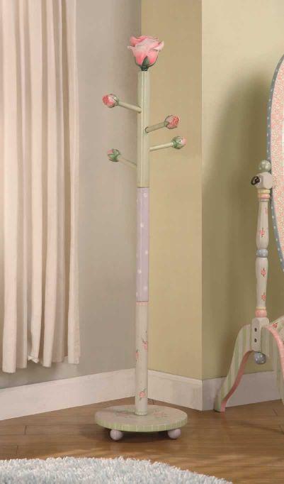 Teamson Child Coat Tree - Rose Crackle