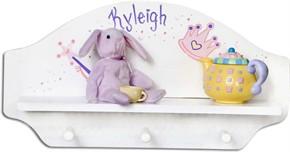 Personalized Three Peg Shelf