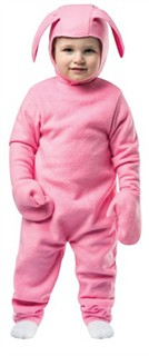 Toddler Christmas Story Pink Bunny Costume