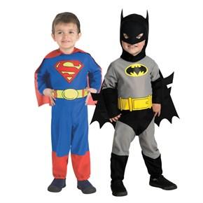 Toddler Superhero Costume Set - Superman & Batman