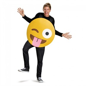 Tongue Out Emoticon Costume