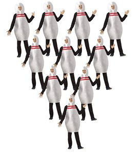 10 Bowling Pin Costume Set