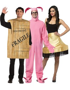 A Christmas Story Costume Set - Bunny, Leg Lamp, Crate