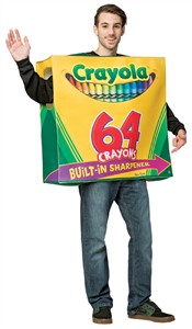 Adult Crayola 64 Box with Sharpener Costume