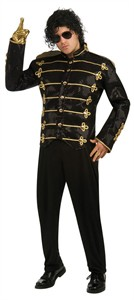 Adult Deluxe Michael Jackson Black Military Jacket