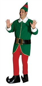 Adult Elf Costume - Green and Red Elf