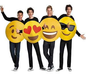 Adult Emoji Group Costume Set - 4 pieces