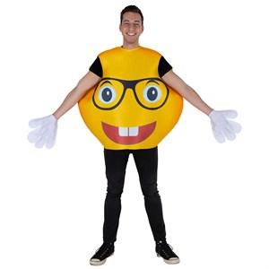 Adult Glasses Smiley Emoji Costume