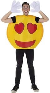 Adult Hearts Smiley Emoji Costume