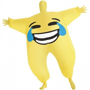 Adult Inflatable Joy Emoji Morph Suit