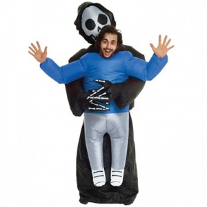 Adult Inflatable Piggyback Grim Reaper  sc 1 st  Find Costume : toddler grim reaper costume  - Germanpascual.Com