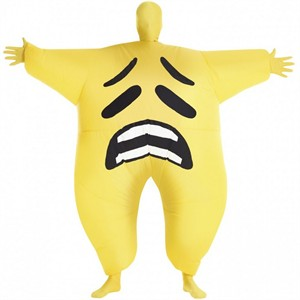 Adult Inflatable Sad Emoji Morph Suit