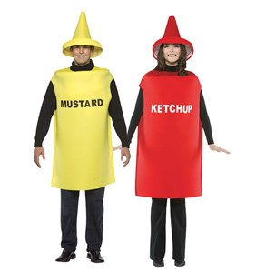 Adult Ketchup and Mustard Costume Set