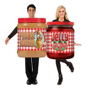 Adult Peanut Butter and Jelly Costume Set
