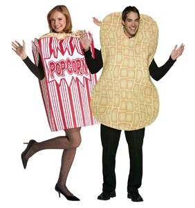 Adult Popcorn and Peanut Costume Set