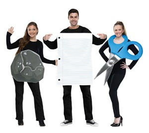 Adult Rock, Paper, Scissors Costume
