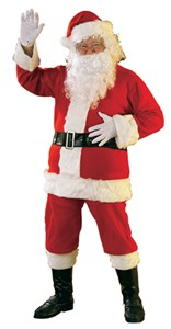 Adult Santa Costume - 6 piece Flannel