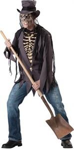 Adult Skeleton Costume - Grave Robber