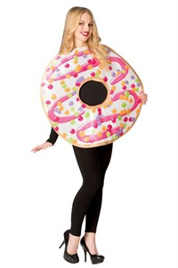 Adult White Frosted Donut Costume