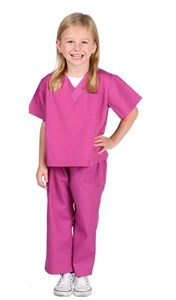 Child Pink Doctor Scrubs Costume