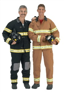 Adult Fire Fighter Costume with Helmet