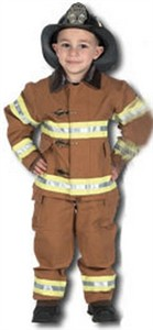 Toddler Fire Fighter Costume with Helmet - Tan