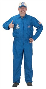 Adult Flight Suit Costume with Embroidered Cap