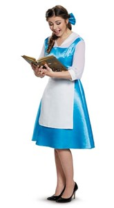 Adult Beauty and the Beast Belle Blue Dress