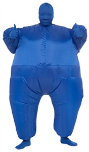 Blue Inflatable Skin Suit Costume